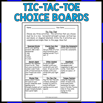 Differentiated Spelling Activities For All Year