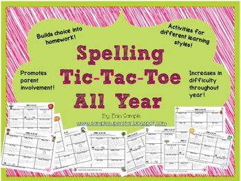 Spelling Tic-Tac-Toe All Year!