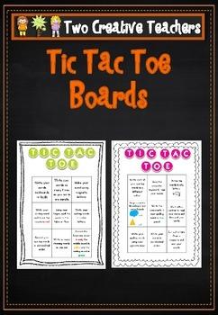 Spelling Tic Tac Toe Board