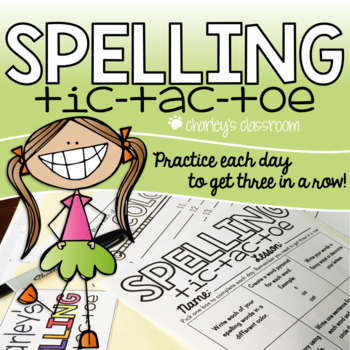 Spelling Tic Tac Toe + activities - EDITABLE
