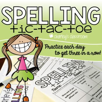 Spelling Tic Tac Toe - EDITABLE