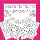 Spelling Tic-Tac-Toe Homework Bundle