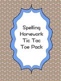 Spelling Tic Tac Toe Homework Pack