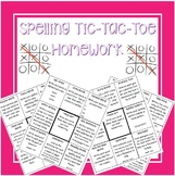 Spelling Tic-Tac-Toe Homework SECOND NINE WKS