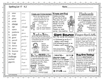 Spelling Tic Tac Toe Journeys Grade 3 Units 3-4