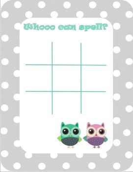 Spelling Tic Tac Toe - Multiple Themes!