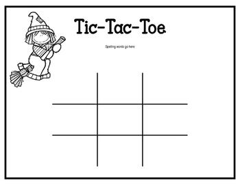 Spelling Tic-Tac-Toe editable version