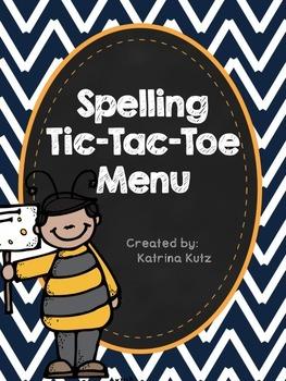 Spelling TicTac-Toe Menu