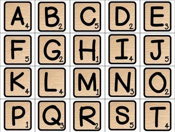 Spelling Tiles Center Activity