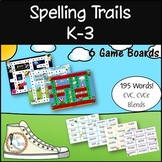Spelling Trails (K-3) Phonics Game - 6 Playing Boards