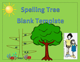 Spelling Tree Template with Leaves EngageNY