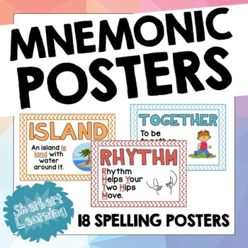 Spelling Tricks and Mnemonics Posters - support for spelling common words!