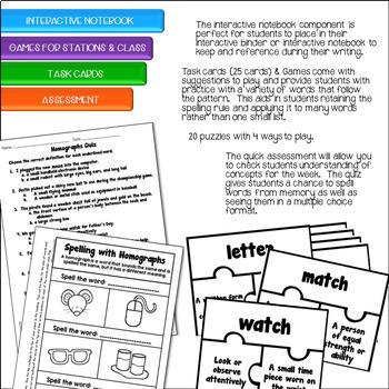 Spelling Unit - Homographs (3rd Grade)