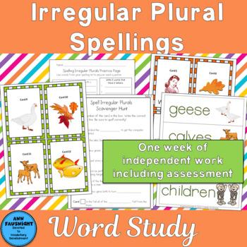 Word Study Irregular Plural Spellings