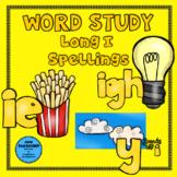 Word Study Long I: ie, igh, y