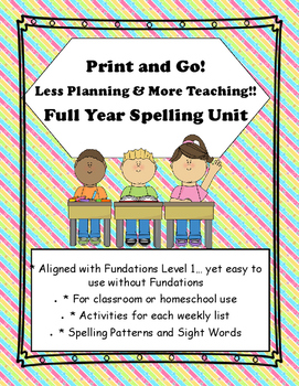 Spelling Unit Print and Go