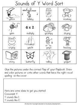 Word Study Sounds of Y