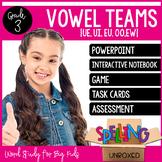 Vowel Teams {UE, UI, EU, OO, EW} Spelling Word Study Unit