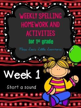 Spelling Unit: Week 1