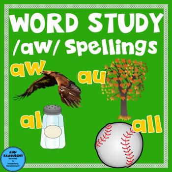 Spelling Unit /aw/ Spellings
