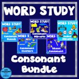 Word Study Consonants Bundle blends, clusters, digraphs, s