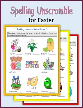 Spelling Unscramble for Easter