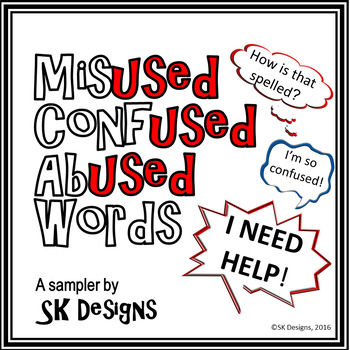 Confused Words Tips Tricks for Usage Spelling Accuracy Posters & Flash Cards