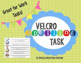 Spelling Velcro Work Task