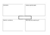 Spelling/Vocab Activity - Based on Frayer model