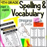 Spelling & Vocabulary Activities   Spelling Lists   Word Work   4th Grade