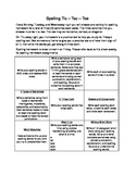 Spelling & Vocabulary Tic-Tac-Toe