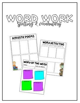 Spelling / Vocabulary Activities