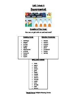 Reading Street Unit 1 Spelling & Vocabulary