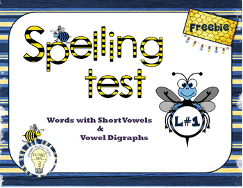 Spelling Vocabulary: Words with Closed Syllables and Short Vowel Patterns Test
