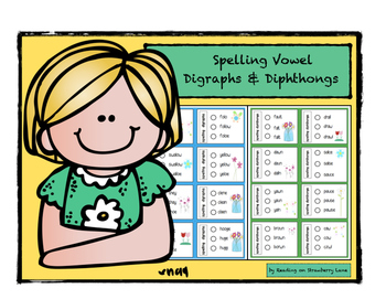 Spelling Vowel Digraph & Diphthong Words