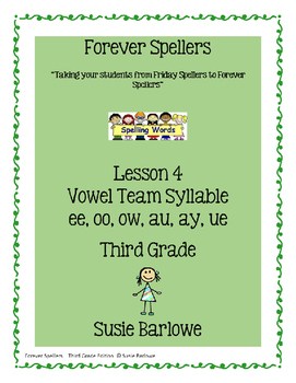 Spelling - Vowel Team Syllable - 3rd Grade