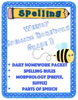 Spelling Weekly Packet (Grade 3)