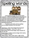 Spelling Weeks 1 thru 31