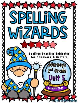 Spelling Wizards | Homework Foldables | Journeys 2nd Grade - Unit 5