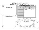 Spelling Word Activity Worksheet(Modified)