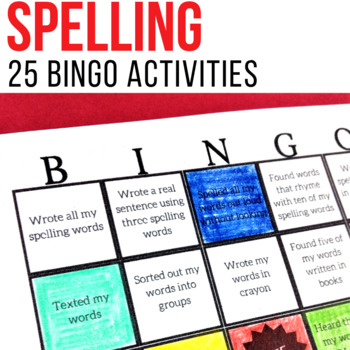 Spelling homework bingo teaching resources teachers pay teachers spelling word bingo for spelling homework or center activity fandeluxe Image collections