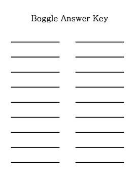Spelling Word Boggle Red Dot Theme