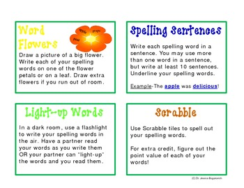 Spelling Word Bonanza: 72 Fun and Exciting Spelling Word Activities