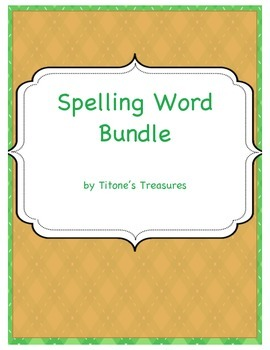 Spelling Word Bundle