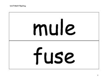 Spelling Word Cards - Wonders - Gr 2 - U2-W2