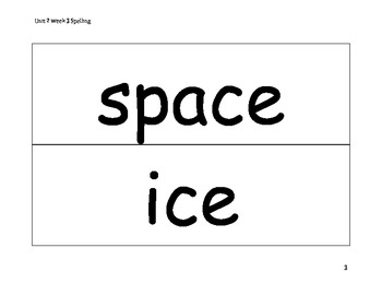 Spelling Word Cards - Wonders - Gr 2 - U2-W3