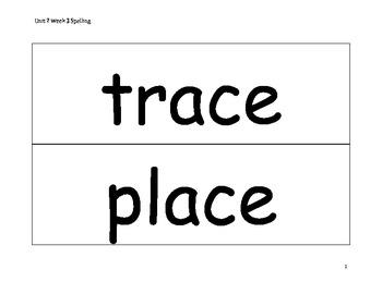 Spelling Word Cards - Wonders - Gr 2 - U2-W3
