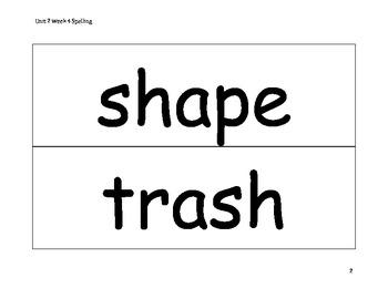 Spelling Word Cards - Wonders - Gr 2 - U2-W4