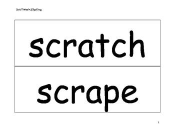 Spelling Word Cards - Wonders - Gr 2 - U2-W5