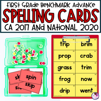 Spelling Word Cards for Benchmark Advance First Grade